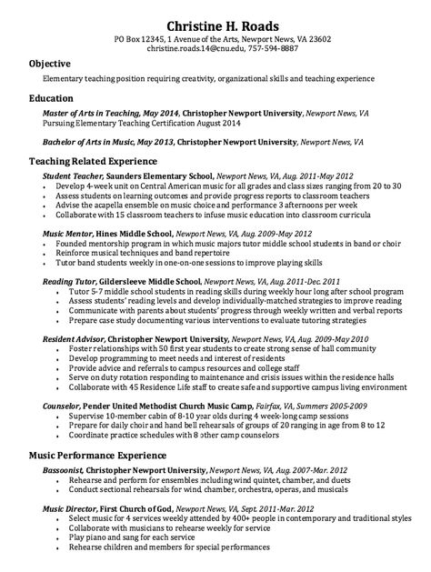 Elementary Resumes -    resumesdesign elementary-resumes - reading tutor sample resume