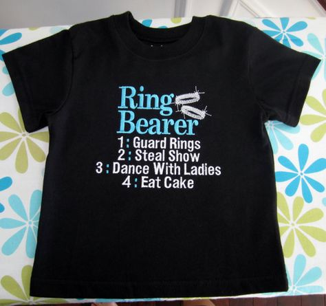 Embroidered  Ring Bearer shirt or onesie  by KimsKreativeBowtique, $24.00        BAHAHAHAHA-LUKE ALL OVER