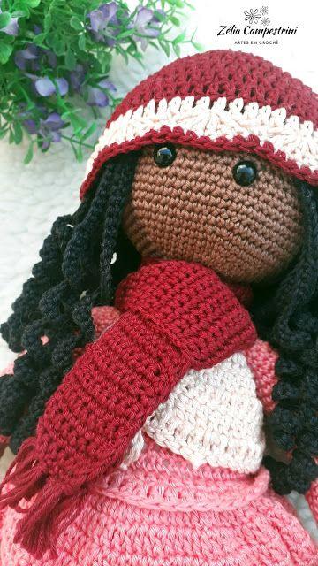 Boneca Russa em Amigurumi (com imagens) | Bonecas de crochê ... | 640x360