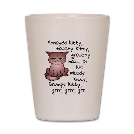 0cab7f4583c6 Angry Pissed Off Black Cat Shot Glass | cats | Cat shots, Off black, Cats