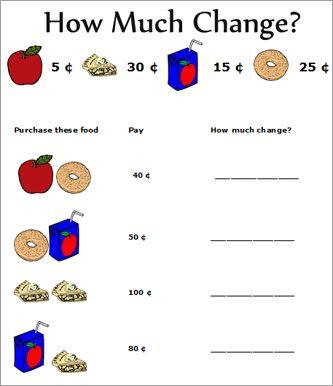 Money Activities For Nd Grade  Nd Grade Money