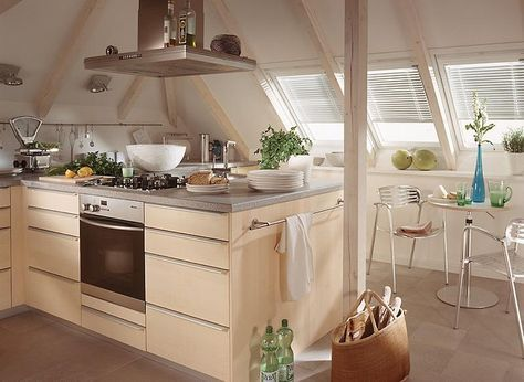 kochen unterm dach   küche, küchenumbau