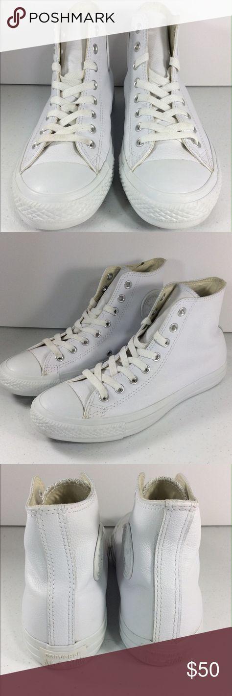 Converse White Leather Chuck Taylor Hi