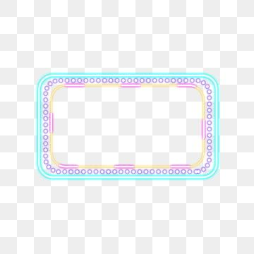 Color Neon Dialog Box Commercial Border Border Clipart Neon Dialog Png Transparent Clipart Image And Psd File For Free Download Contrasting Colors Text Bubble Neon