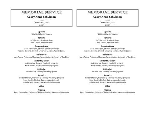 memorial service program examples - Google Search clambake - sample obituary