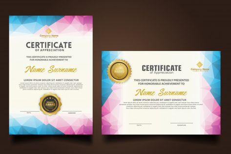 Set certificate template with dynamic an...   Premium Vector #Freepik #vector #certificate #school #border #ornament