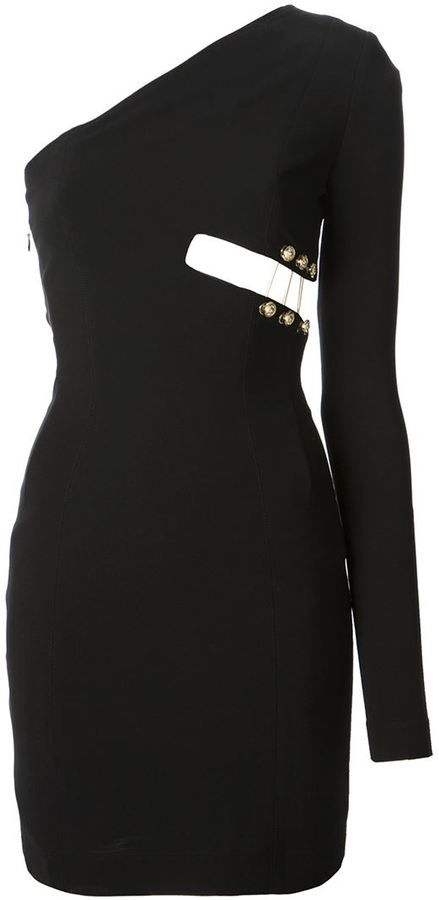e735a5fc6ca Anthony Vaccarello X Versus Versace cut-out detail one shoulder dress