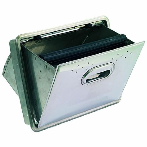 Stainless Steel Fold Down Knock Box Drawer Drawers Coffee