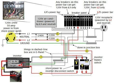 rv dc volt circuit breaker wiring diagram | ... power system ... Ac Circuit Breaker Wiring Diagram on