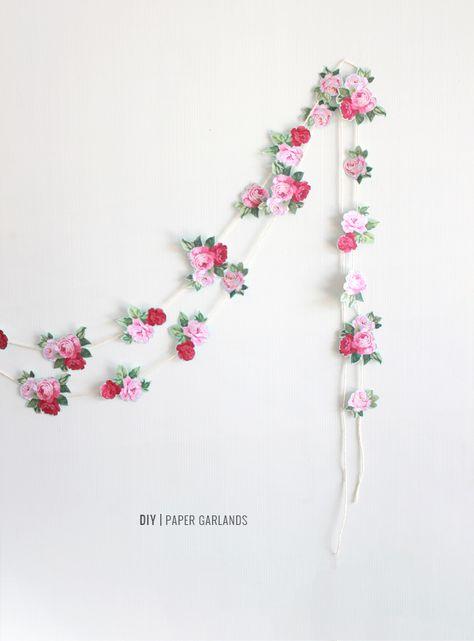 Pinterest Feature Friday Paper Flower Garlands Diy