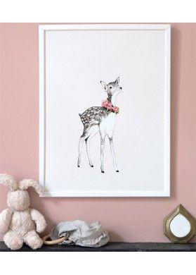 Affiche Deco Chambre D Enfant Theme Nature Foret Faon Daniela
