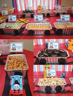 Thomas the Train Birthday Party Chugga Chugga TWO TWO! 2019 Thomas the Train Birthday Party Food Ideas and food labels The post Thomas the Train Birthday Party Chugga Chugga TWO TWO! 2019 appeared first on Toddlers ideas. Thomas Birthday Parties, Thomas The Train Birthday Party, Birthday Party Snacks, Trains Birthday Party, Birthday Party Decorations, 2nd Birthday, Car Party, Train Decorations, Birthday Wishes