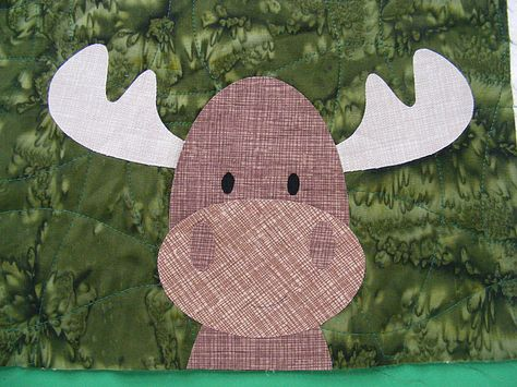 Moose fusible appliqué free pattern quilting pinterest