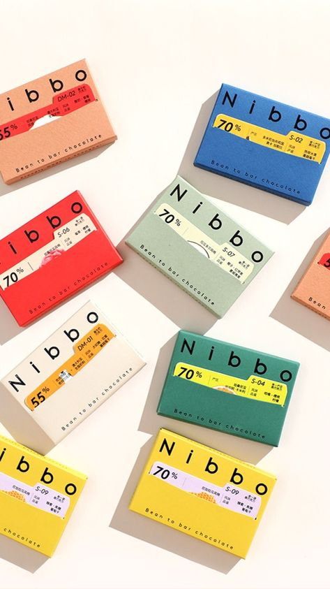 Nibbo chocolate packaging design by Low Key Design