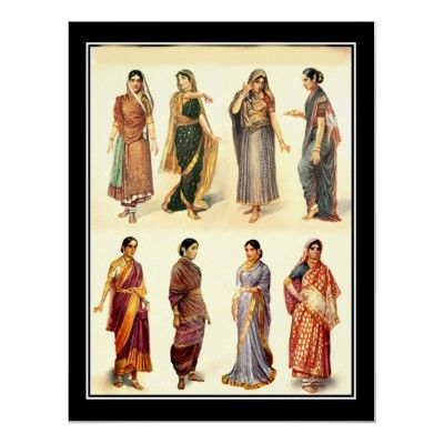 Fashion in India  Vintage Poster