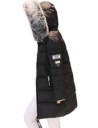 Zearo Ubergangsjacke Damen Winter Mantel Schwarz Blau Kunstfell Lang In 2020 Winter Jackets Fashion Canada Goose Jackets