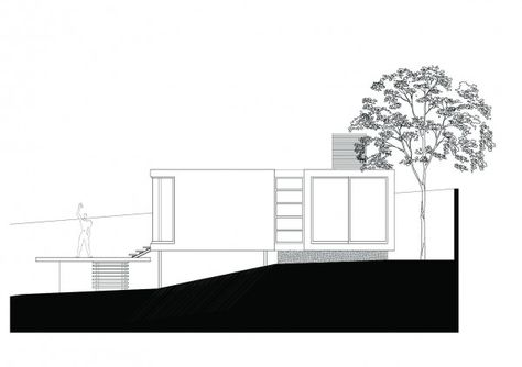 A farnsworth inspired weekend house on the edge of a crater buildings pinterest weekend house and house