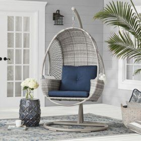 Hangende Egg Chair.Member S Mark Woven Egg Chair With Cup Holder Various Colors