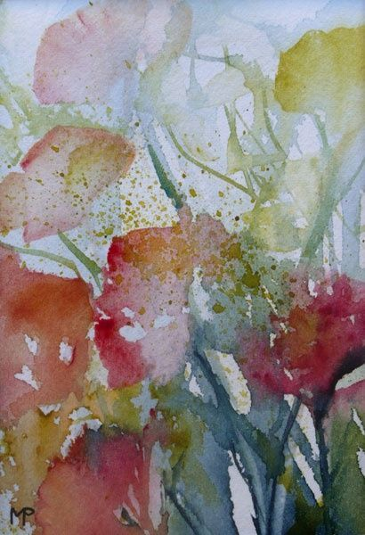 N 11 Peinture 12x8 Cm Par Veronique Piaser Moyen Aquarelle