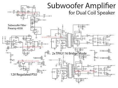 Subwoofer Power Amplifier Class-D Dual Bridge TPA3116D2 in
