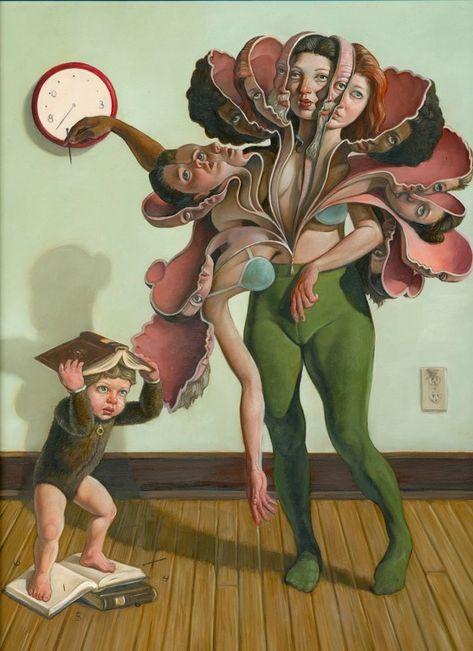 Erik Thor Sandberg's Elegant, Cerebral 'Bloom' Paintings   Hi-Fructose Magazine