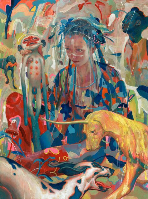 James Jean's New Narratives Blended With Abstraction