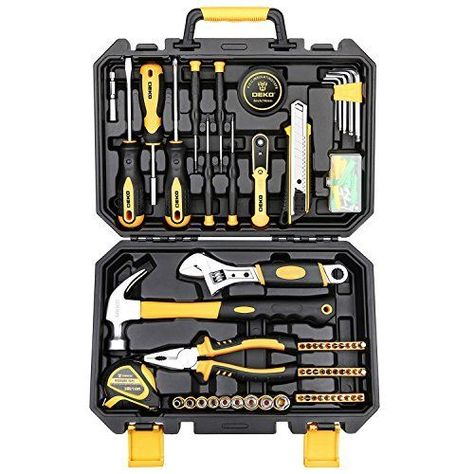 b375eb3ffae DEKO-100-Pcs-Hand-Tool-Set-General-Household-Kit-with-Wrench-and-Plastic- ToolBox