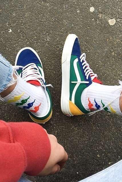 basket vans couleurs