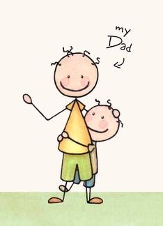 My Dad My Best Friend Father's Day Greeting card by Olivia