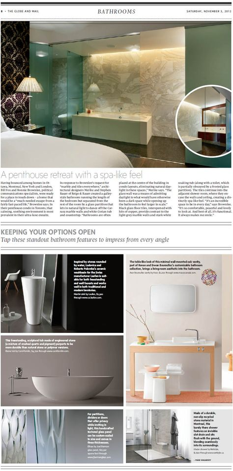 Do You Want A Spa Like Bathroom Check Out Some Tips And Our Ellisse Panel Featured In The Globe And Mail W Spa Like Bathroom Lighted Bathroom Mirror Bathroom