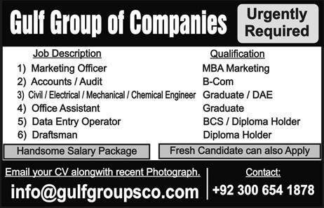 Q Group of Companies Business Development Officer Jobs January - marketing officer job description