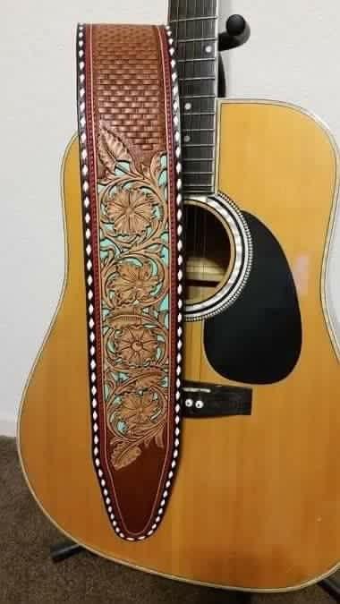 Handmade Leather Guitar Strap Guitar Strap Guitar Leather Guitar Straps
