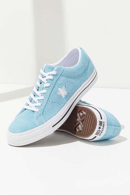 Shop Blue Converse One Star Ox Suede Low Top Shoe for Unisex