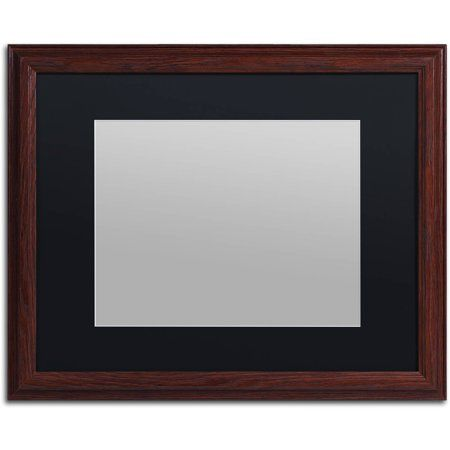 Trademark Fine Art Heavy Duty 16x20 Wood Picture Frame With 11x14 Black Mat Walmart Com Picture On Wood Picture Frames Wood Picture Frames