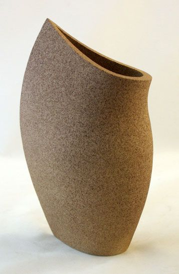 Sail Stoneware 280mm High Pottery Handbuilding Modern Ceramics Design Pottery Vase