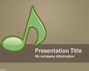 free musical powerpoint template is a free ppt template with a, Modern powerpoint