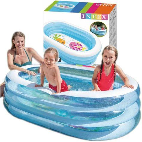 Basenik Dmuchany Dla Dzieci Brodzik 163x107 Intex 9161211960 Oficjalne Archiwum Allegro Outdoor Decor Pool Float Outdoor