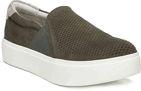 cfc9556629ba Women Abbot Lux Platform Slip-On Sneaker -White Crackle Leather in ...