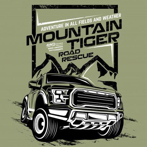 Mountain tiger road rescue, illustration...   Premium Vector #Freepik #vector #background