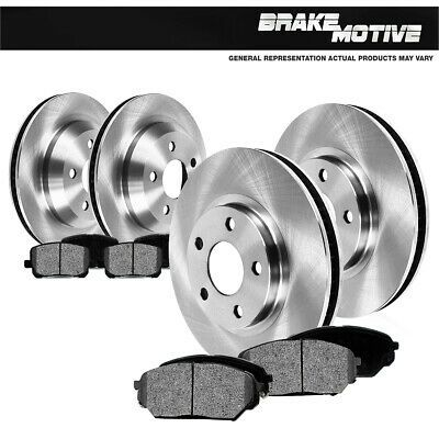 Fits 2007-2010 BMW 328i,328xi Front Rear Drill Slot Brake Rotors+Ceramic Pads
