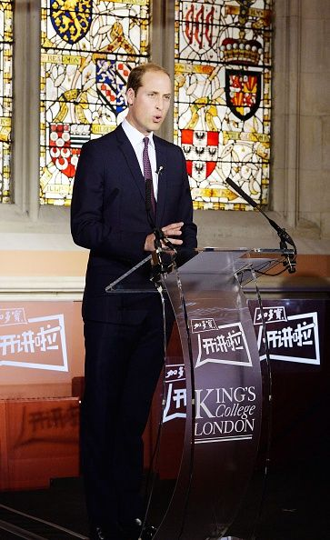 Britain's Prince William, Duke of Cambridge, delivers a speech to students on the topic of the illegal wildlife trade, and the urgent need to combat it, inside the Maughan Library at King's College London, in central London on October 19, 2015.