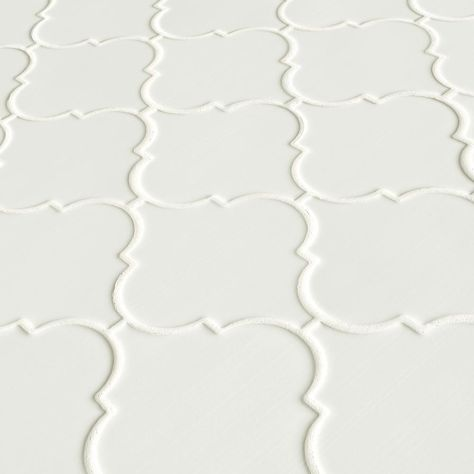 Msi Whisper White Arabesque 10 1 2 In X 15 1 2 In X 8 Mm Glazed Ceramic Mesh Mounted Mosaic Wall Tile 11 7 Sq Ft Case Pt Ww Arabesq In 2020 Mosaic Wall Tiles Ceramic Mosaic Tile Mosaic Tiles
