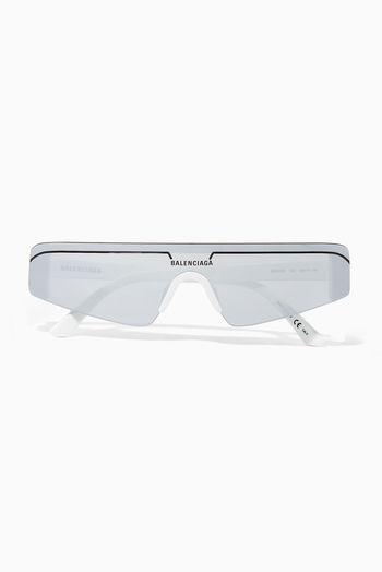 نظارة شمسية مستطيلة بتصميم تزلج نظارات شمسية Rectangle Sunglasses Sunglasses Balenciaga