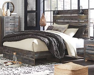 Cambeck Queen Panel Bed With Side Storage Ashley Furniture