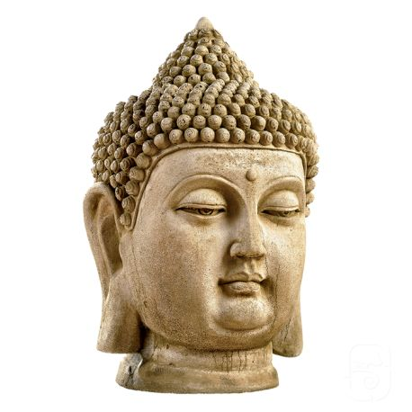 Grande Statue Tete De Bouddha H 60cm Tete De Bouddha Bouddha