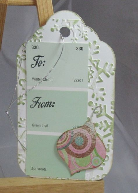 Gift Tags Using Paint Swatches