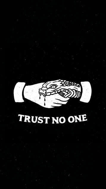 Trust No One Iphone Wallpaper Johnny Bravo Skull Art