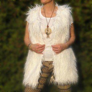 Futrzana Kamizelka Sztuczne Futro Lama Biala Boho 6538000710 Oficjalne Archiwum Allegro Fashion Tassel Necklace
