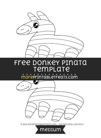image about Donkey Pinata Template Printable identified as Free of charge Donkey Pinata Template - Medium Styles and Templates