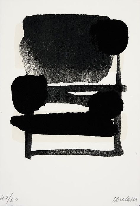 Serigraphie N° 6 BY Pierre Soulages